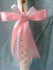 Rosa Tropfschutz Taufe  Kerzen Kerzenschleife,Kerzenschmuck,Kommunion,Geburt