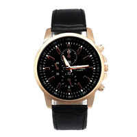 Unisex Sport Watch Stainless steel Leather Quartz Analog Watches Cadeau