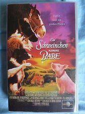 """VHS - Videokassette: """" Ein Schweinchen names Babe"""" ..ohne Altersbeschränkung."""