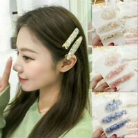 New Geometric Acrylic Hair Clips Shiny Hairpin Barrette Girls Women Accessories