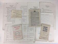 Original 2WW / WW2 Military Issue Gas Attack Ephemera / leaflets / Gas Mask