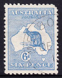 1913 - 6d Ultramarine 1st Wmk Kangaroo Fine used ACSC $25