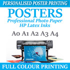 Your PHOTO ON PAPER Satin 180gsm PERSONALISED POSTER Print A4 A3 A2 A1 A0