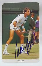 Ivan Lendl 1987 Fax-Pax Tennis Card Autographed MINT Very Rare Collectable
