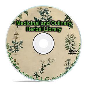 Vintage Herbal Remedies, Herbs Herbalism, Homeopathic Medicines 96 books DVD B59
