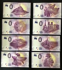 Null € 0-Euro-Schein Souvenir Souvenirschein 7 verschiedene Frankreich 2017