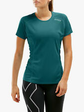 New 2XU XVENT Short Sleeve Running Top, Green Reflective X, Medium, RRP £38