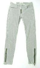 Elizabeth & James TEXTILE Cooper Pants Sz 25 Striped Black & White Skinny Zipper