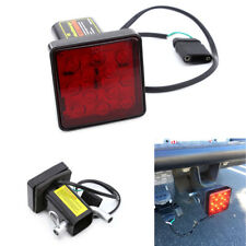 "2"" Red 12-LED Super Bright Brake Light Trailer Hitch Cover For Towing & Hauling"