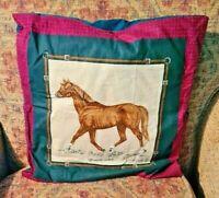 "Cushion With Quarter horse Motif 16"""