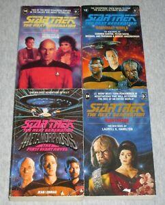 4 x Star Trek The Next Generation paperbacks