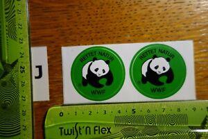 Alter Aufkleber Natur Tiere Umwelt WWF 2 Mini-Sticker