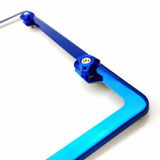 New Candy Blue Stainless Steel License Plate Frame w/Aluminum Screw Cap Combo