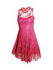 Scoop Neck Skater Net Dresses for Women