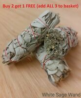 "White Sage Smudge Stick 4"" Native American Smudge Stick Vegan Buy 2 get 1 FREE"