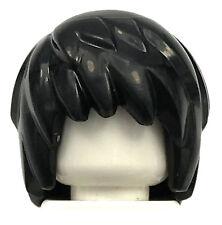 LEGO NEW BLACK GUY GIRL PUNK ROCKER MINIFIGURE HAIR WIG PIECE