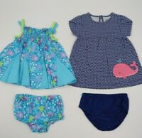 Multi Brand Baby Girl 4 Piece Dress Outfits Sets Size 0-3 Months