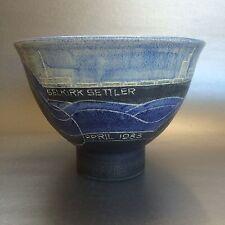 RARE Susan & Theo Harlander Pottery Bowl 1983 Steamship