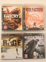 PS3 Game Bundle - Far Cry 2 + Red Faction Guerrilla + Rage + Watchdogs  (256)