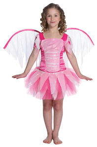 Pink Fantasy Fairy Child Costume with Wings Size Medium 7-10
