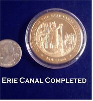 1825 ERIE CANAL Completed - Franklin Mint Solid BRONZE Medal - Uncirculated
