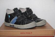 BOPY - Baskets Montantes Varo Cuir  - Noir Gris Bleu  - T 31 neuf