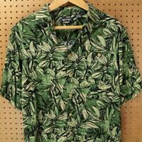 Puritan men's rayon floral print vacation shirt MEDIUM tag drape hawaiian