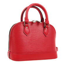 LOUIS VUITTON NANO ALMA 2WAY HAND BAG SN2175 PURSE RED EPI M50516 AUTH AK40531