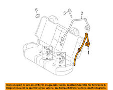 Chevrolet GM OEM 2005 Aveo Rear Seat Belt-Outer Assy Right 96454764