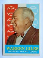 Warren Giles #200 Topps 1959 Baseball Card (President National League) VG