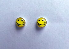 Pair Of Sterling Silver  925  Smiley  Face  And  Tongue  Ear Studs  !!   New  !!