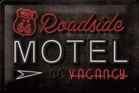 Route 66 Roadside Motel Relieve Letrero de Metal 300mm x 200mm (Na )