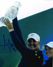 Anna Nordqvist signed Lpga 8x10 Solheim Cup Trophy photo with Coa