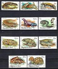 Animaux Reptiles Guinée (184) série complète 11 timbres oblitérés