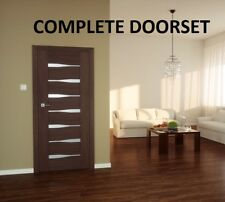 'EMENA' Internal Complete non-rebated Door with a frame!Choose a Bespoke Design!