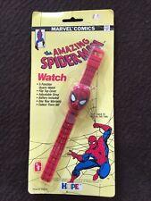 1990 Marvel Comics Spiderman Watch Sealed on Card