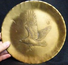 """Wendell August Forge Hand Made 9"""" Dia. Solid Bronze Plate with The Bald Eagle"""