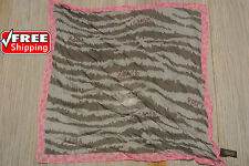 """COACH Poppy Zebra Silk Scarf 21"""" Square NWT & NWOT (SEE COLORS)  Purse Neck  $48"""