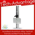 Marine Aluminium Transom Mount Adjust Transducer/bilge/bait Pump Small Bracket photo