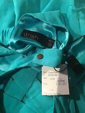 Wish Brand Size L/AU 14 Aqua Dress