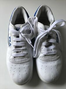 Fila White Retro Old School Leather Sneakers Trainers Size Uk 6
