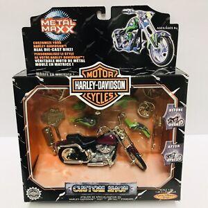 Harley/Davidson Softail 1/20 Metal Maxx Diecast Bike NIP With Parts & Tool