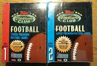 1993 Topps Stadium Club Football Series 1+2 Factory Sealed 24 Pack Box 1 OF EACH