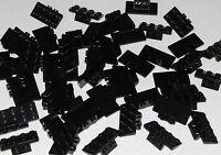 Lego Lot of 50 New Black Brackets 1 x 2 - 2 x 4 Car Pieces