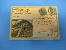 Vintage Souvenir Postcard Folder 1920 Miami, Florida S435