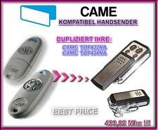 CAME TOP432NA / CAME TOP434NA kompatibel handsender, Ersatz sender, klone