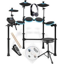 Alesis DM Lite Electronic Drum Kit with Stool, Sticks, S-LAB BLK HPhones + DVD