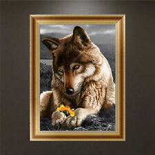 DIY 5D Diamond Embroidery Wolf Dog Painting Cross Stitch Home Decor Craft