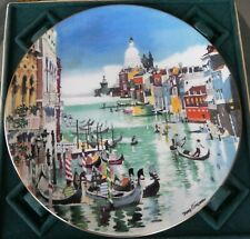 "Royal Doulton Collector Plate with Box ""Grand Canal (Venice)"" by Dong Kingman"