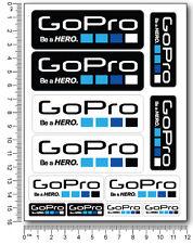 GoPro Hero 2 3 4 kamera aufkleber 12 stickers decal Verbund bike surfen rad surf